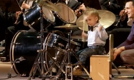 3 Years Old Russian Drummer Leads Orchestra of Adult Musicians – Lyonya Shilovsky