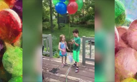 Kids Send Balloons to Dad in Heaven